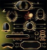 planlägg den guld- skölden Royaltyfria Bilder