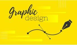 planlägg diagrammet Pennhjälpmedelmarkör Vektordatordiagram baner för formgivare eller illustratör Kurvkontrollpunkterna vektor illustrationer