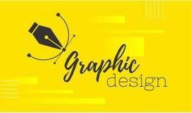 planlägg diagrammet Pennhjälpmedelmarkör Vektordatordiagram baner för formgivare eller illustratör Kurvkontrollpunkterna stock illustrationer