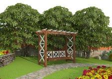 Planlägg en trädgårds- täppa Arkivbilder