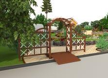 Planlägg en trädgårds- täppa Arkivfoton