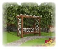 Planlägg en trädgårds- täppa Arkivbild