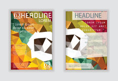 Planlägg för affisch för tidskrift för räkningsbroschyrreklamblad i A4 Fotografering för Bildbyråer