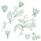 planlägg frloral element royaltyfri illustrationer