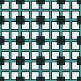 planlägg geometriskt Gröna och vita fyrkanter Royaltyfri Foto