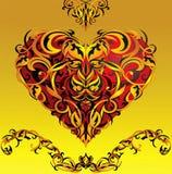 planlägg hjärtaform stock illustrationer