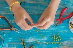 planlägg, mönstra, räcka, gjort, mandalaen, tråden, makramén, objekt, l Arkivfoto
