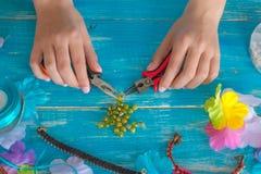 planlägg, mönstra, räcka, gjort, mandalaen, tråden, makramén, objekt, l Royaltyfri Foto