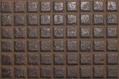 Planlägg på gammalt stål med rost för modell Royaltyfria Bilder