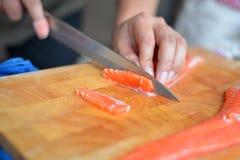 planlägg praktiska sushi för laxen för elementmenyrestaurangen mycket royaltyfri fotografi