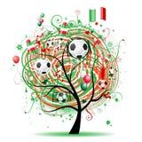 planlägg treen för flaggafotbollmexikanen Royaltyfri Bild