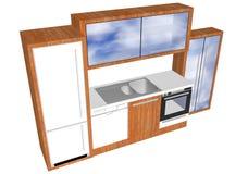 Planlägga ett kök vektor illustrationer