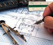 planlägga för arkitekt Royaltyfri Fotografi