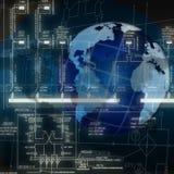 planlägga nyast sphereteknologier Arkivbild