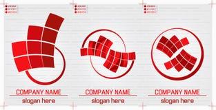 planlägger den moderna logoen Arkivbild