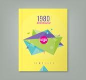 Planlägger geometriska former för abstrakt 80-talstiltriangel bakgrund royaltyfri illustrationer