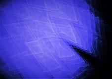 Planlägger grafiska linjer för härligt färgrikt abstrakt utrymme fractalsammansättning royaltyfri illustrationer