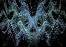 Planlägger grafiska linjer för härligt för waveslabstrakt begrepp för ljus färg utrymme fractalsammansättning vektor illustrationer