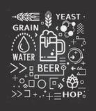 Planlägger infographic symboler för öl royaltyfri illustrationer