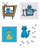planlägger kat stock illustrationer