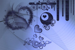 planlägger retro hjärtor Fotografering för Bildbyråer
