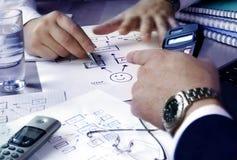 planläggning arkivbild