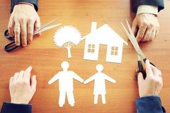 Planläggning av lyckligt familjeliv Arkivbild