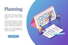 Planläggning av schema, Optimization för arbeteuppgifter stock illustrationer