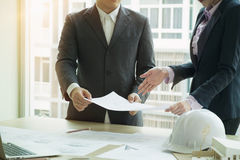 Planläggning för lag för inreformgivare med konstruktionshuset Fotografering för Bildbyråer