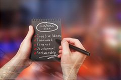 Planläggning och framgångbegrepp Fotografering för Bildbyråer