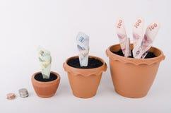 Planläggning och investering för begrepp finansiell Arkivfoton