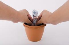 Planläggning och investering för begrepp finansiell Royaltyfria Bilder