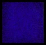 Planlös-färg abstrakt sammansättning med cyan slaglängder på en blac Arkivfoto
