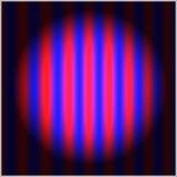 Planlös-färga abstrakt sammansättning med a slår och ett svagt blått Arkivbilder