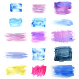 Planlagd abstrakt vattenfärgbakgrund Fotografering för Bildbyråer