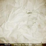 Planlagd textur av skrynkligt papper Arkivfoto