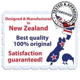 Planlagt och tillverkat i Nya Zeeland, bästa kvalitet vektor illustrationer