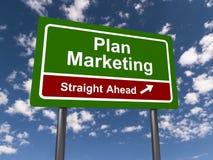 Planmarknadsföringsraksträcka framåt royaltyfri illustrationer