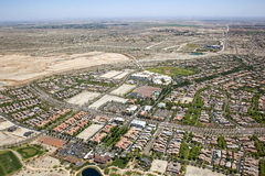 Planned Community. West of Phoenix, Arizona with new home building Stock Photography