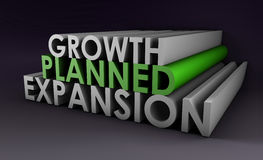 Planned Expansion. And Growth of a Company vector illustration