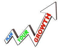 Planned growth. Plan your growth either financially or for your career path Stock Photo