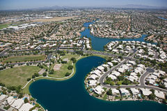 Planned Lakeside Community Stock Images