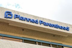 Planned Parenthood sign on building Stock Images