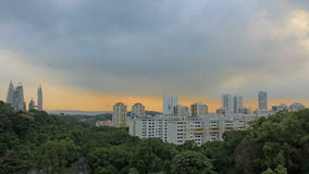 Planned Public Housing in Singapore at Sunset Stock Photos