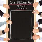 2015 plannen Royalty-vrije Stock Foto's