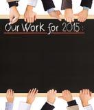 2015 plannen Royalty-vrije Stock Fotografie