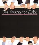 2015 plannen Stock Foto's