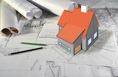 Plannen en ontwerpen Stock Afbeelding
