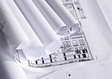 Plannen van architectuur Royalty-vrije Stock Afbeelding