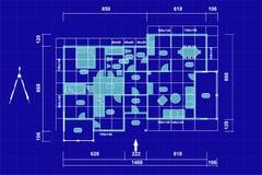 Plannend huis royalty-vrije illustratie